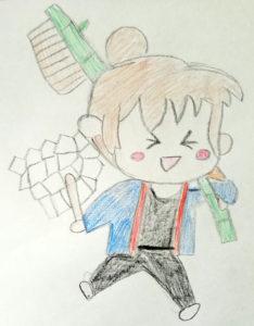 9歳の女の子が描いたお祭りの絵をぬいぐるみに!こんな風になりました!