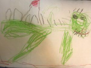4歳の男の子が描いた恐竜の絵をぬいぐるみに!